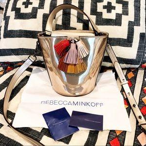 Rebecca Minkoff Rose Gold Tassel Bucket Bag